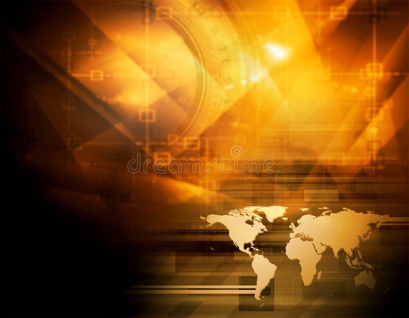 Download Heldere Oranje Technologieachtergrond Stock Illustratie - Illustratie bestaande uit kromme, kromming: 39104285