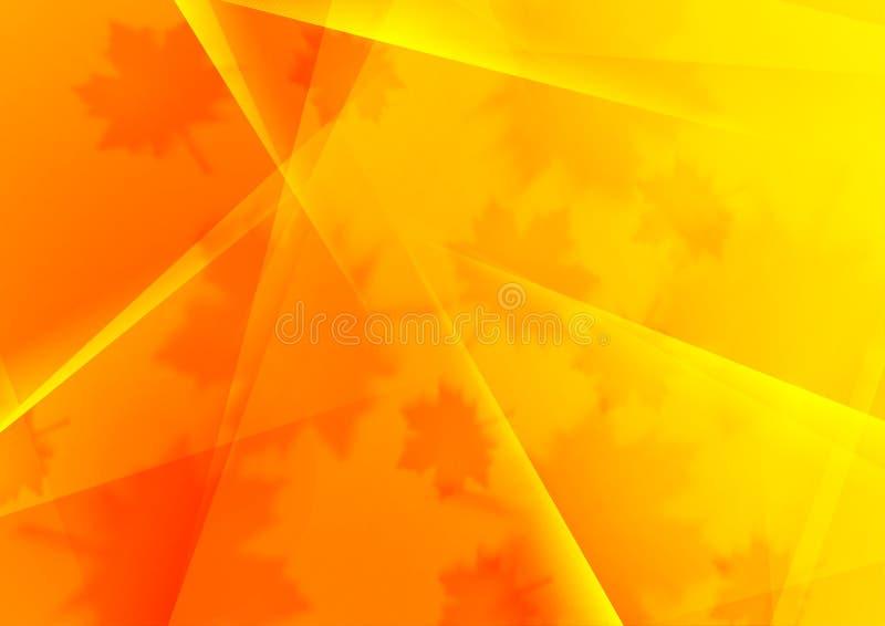 Heldere oranje veelhoekige de herfstachtergrond vector illustratie