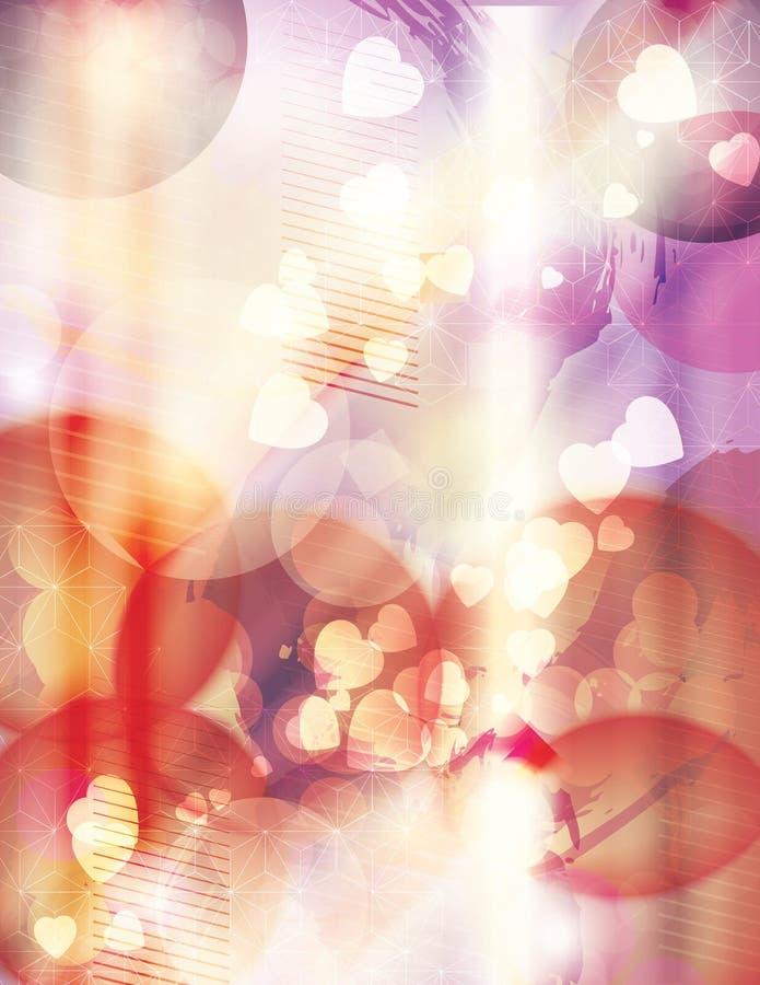 Heldere pastelkleur grunge achtergrond royalty-vrije illustratie