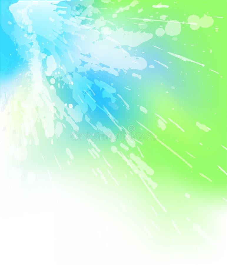 Heldere plons vector illustratie