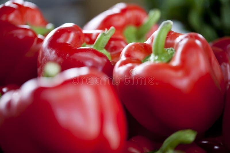 Heldere Rode Groene paprika's royalty-vrije stock foto