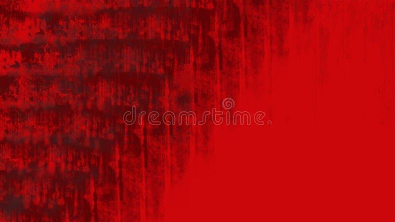 Heldere rode grungeachtergrond met verontruste slagen en druppels royalty-vrije stock fotografie