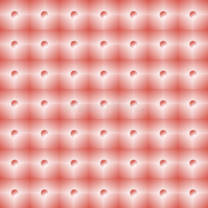 Heldere roze betegelde muur met klein schijnwerpers naadloos patroon royalty-vrije illustratie