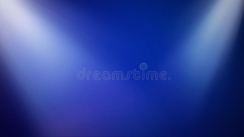 Heldere Stadiumlichten op Blauwe Achtergrond - Gestileerde Subtiele Blauwe Vermaakillustratie vector illustratie