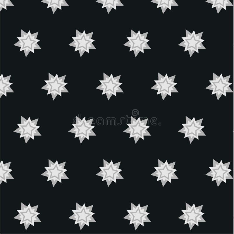 Heldere tegenover elkaar stellende het patroonachtergrond van de stersneeuwvlok stock foto's