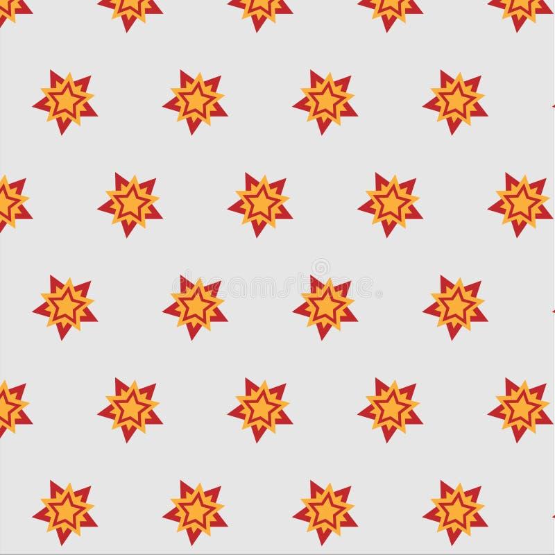 Heldere tegenover elkaar stellende het patroonachtergrond van de stersneeuwvlok stock afbeeldingen