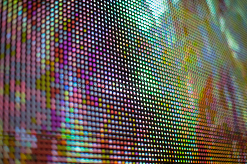 Heldere violette en gele het gekleurde smd LEIDENE scherm stock foto's