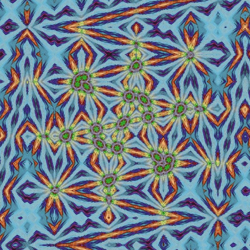 Heldere zigzaglijnen op blauwe achtergrond, conceptie van abstracte eenhoorn sujet stock illustratie