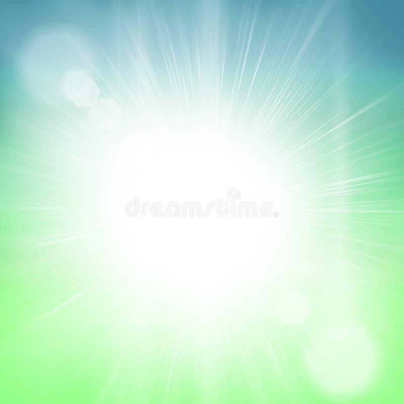 Heldere zon lichte hemel royalty-vrije stock fotografie