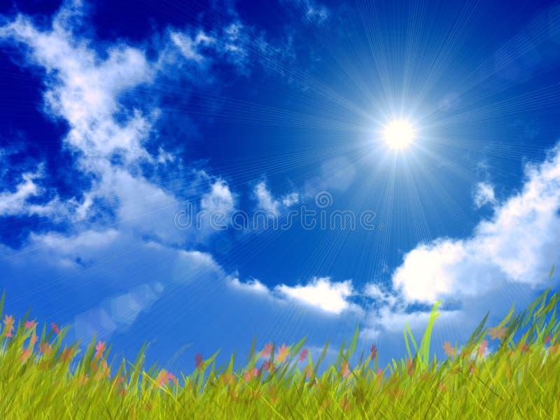 Heldere zonnige dag stock illustratie
