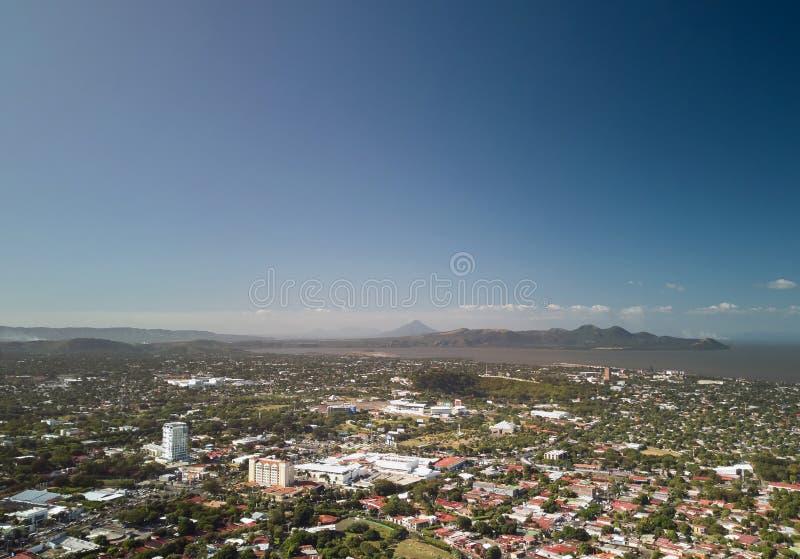 Heldere zonnige dag in Managua stock foto's