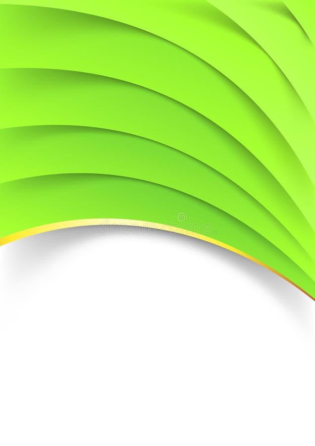 Heldergroen gelaagd omslagmalplaatje vector illustratie