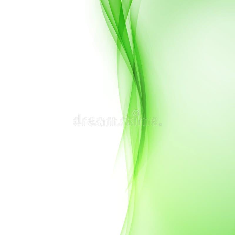 Heldergroene abstracte de grenslijn van de swooshgolf royalty-vrije illustratie