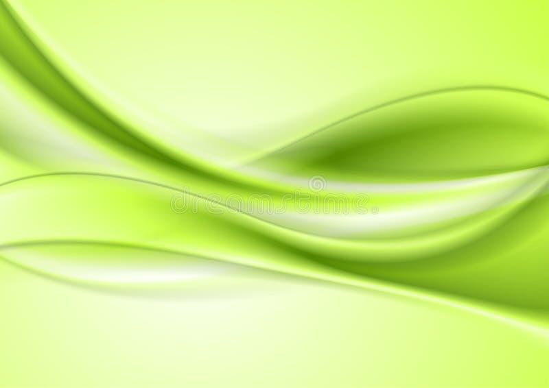 Heldergroene abstracte vlotte zachte golvenachtergrond vector illustratie
