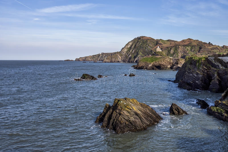 Hele Bay in North Devon. In England royalty free stock photo