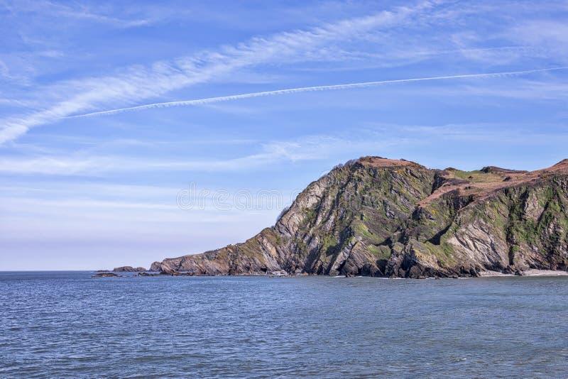 Hele Bay in North Devon in England. Hele Bay in North Devon stock image