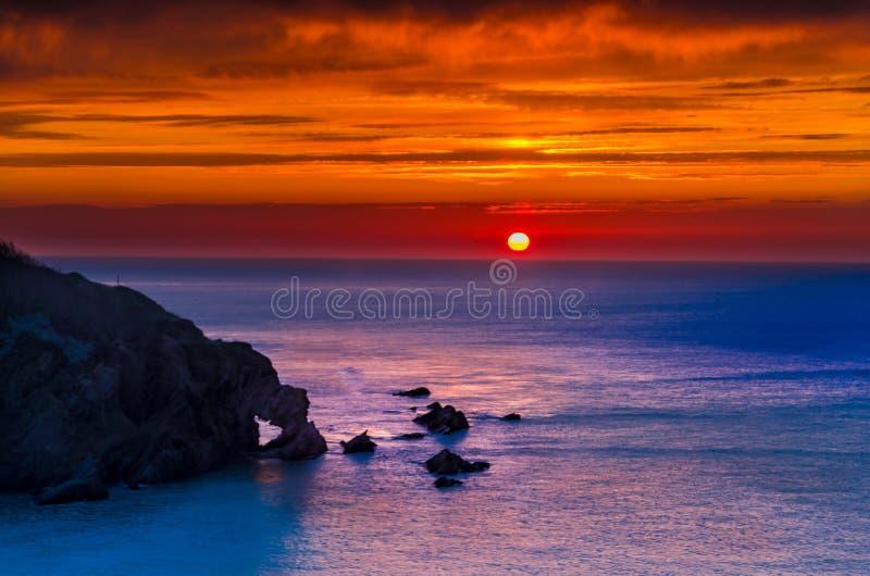 Hele bay sunset stock photography