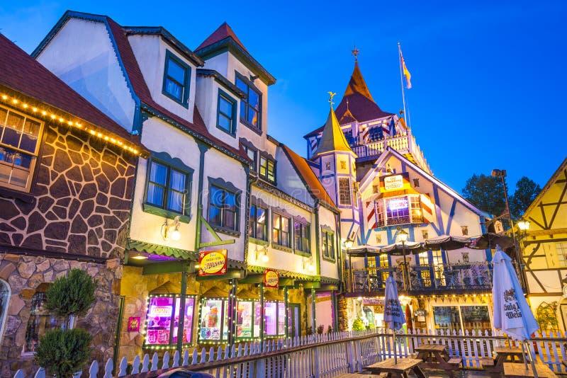 Helen, Georgia, città del Bavarian di U.S.A. fotografie stock