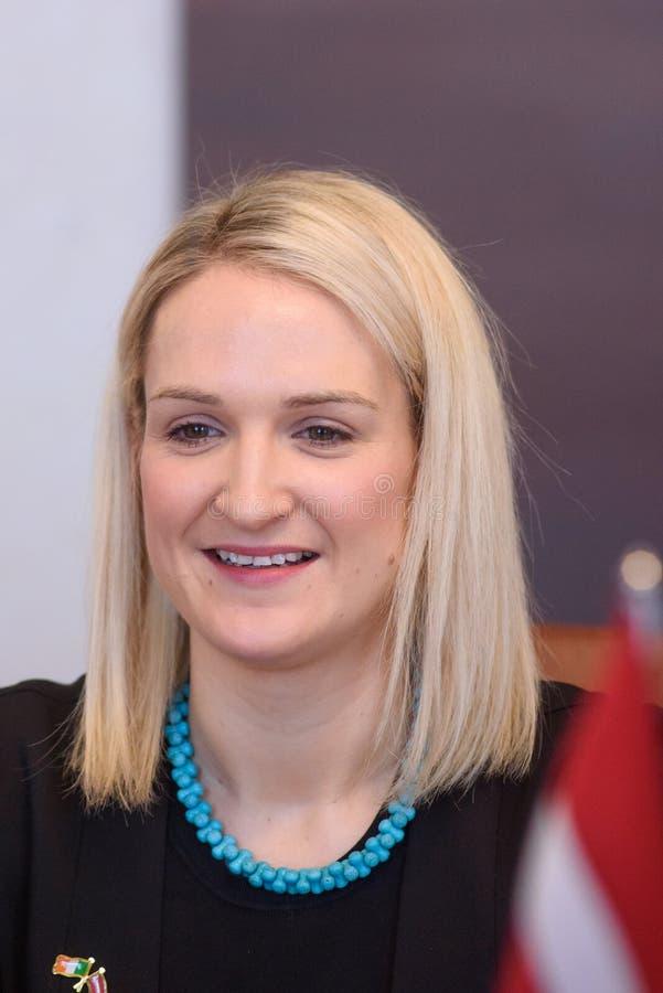 Helen McEntee Minister para los asuntos europeos de Irlanda foto de archivo libre de regalías
