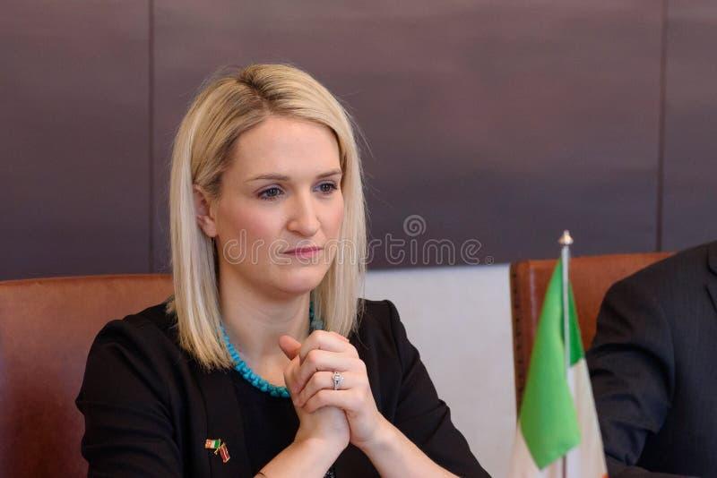 Helen McEntee Minister para los asuntos europeos de Irlanda imágenes de archivo libres de regalías