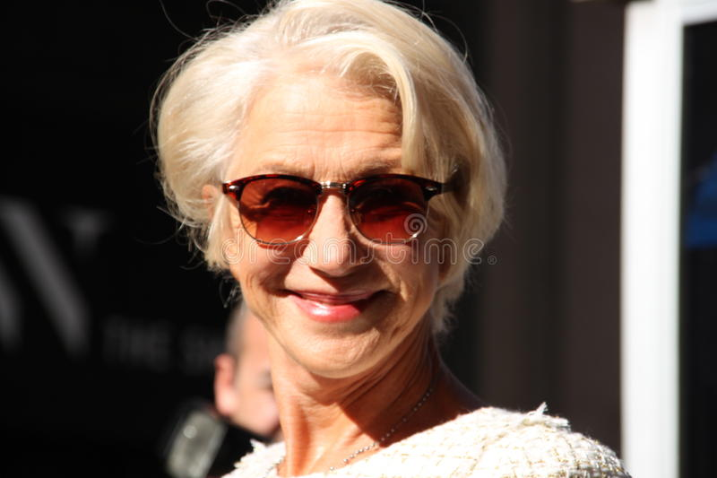 Helen mirren bij fashionweek in New York, de lente van 2016 royalty-vrije stock fotografie
