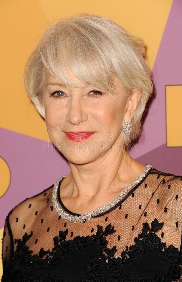 Helen Mirren. At the HBO`s 2018 Official Golden Globe Awards After Party held at the Circa 55 Restaurant in Beverly Hills, USA on January 7, 2018 stock image