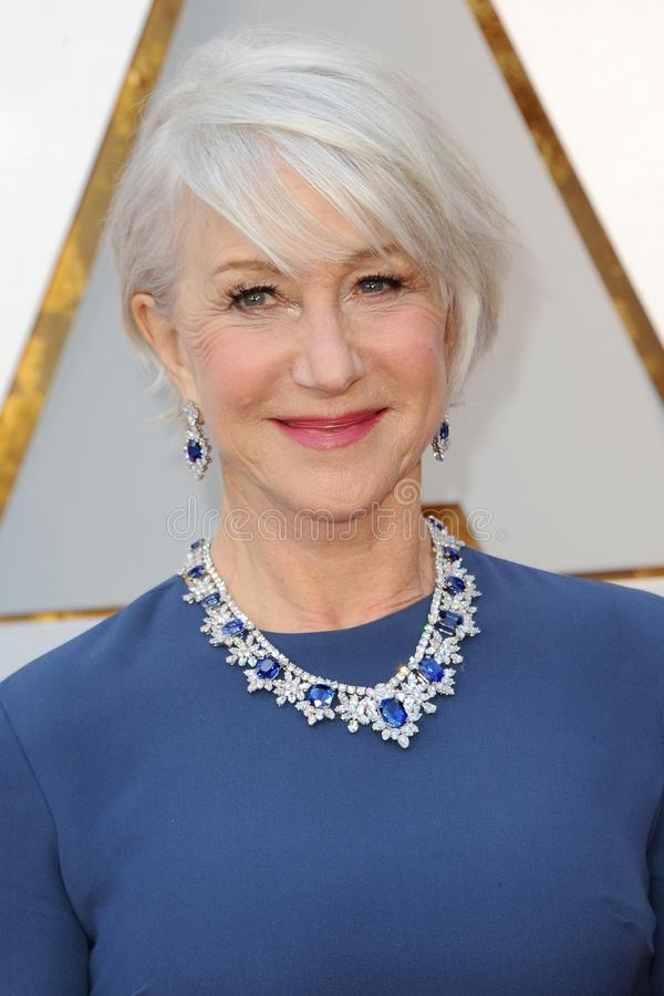 Helen Mirren. At the 90th Annual Academy Awards held at the Dolby Theatre in Hollywood, USA on March 4, 2018 royalty free stock photography