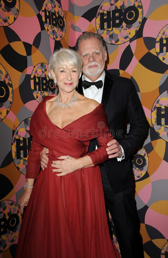 Helen Mirren, Taylor Hackford royalty free stock photography