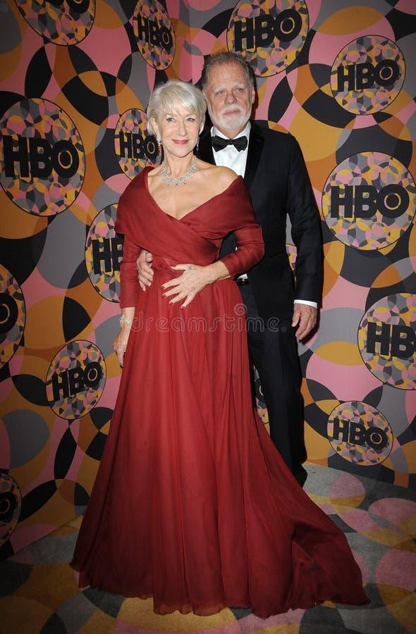 Helen Mirren, Taylor Hackford royalty free stock photos
