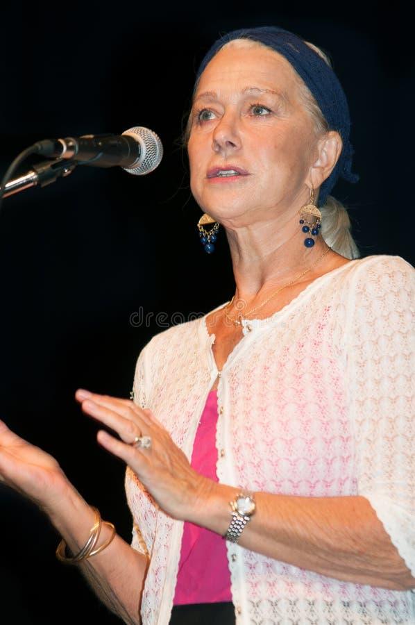 Helen Mirren tijdens Karlovy vari?ërt IFF 2012 royalty-vrije stock afbeelding