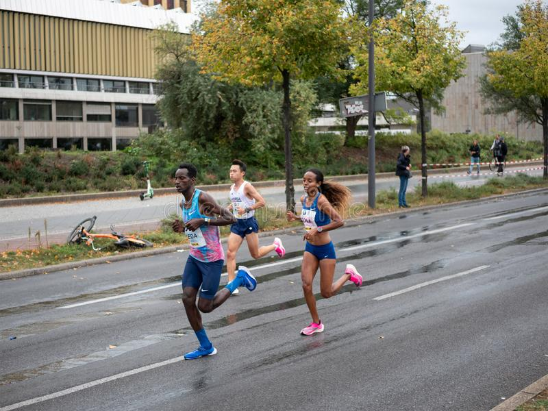 Helen Tola At Berlin Marathon 2019 In Berlin, Germany stock images