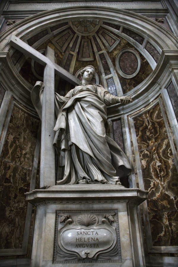 helena inom den peter s saintstatyn royaltyfri foto