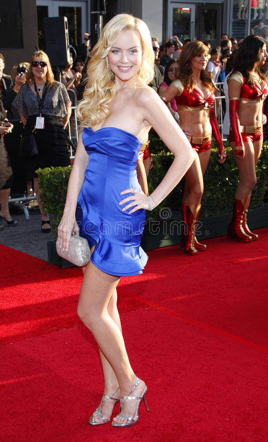 Helena Mattsson. At the World Premiere of Iron Man 2 held at the El Capitan Theater in Hollywood, California, United States on April 26, 2010 stock photography
