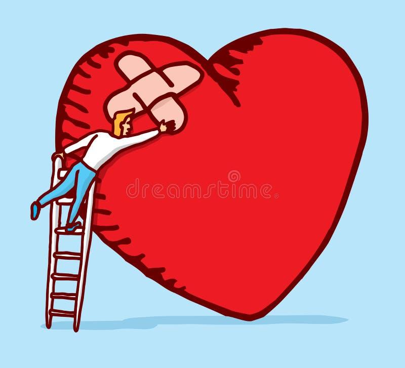 Helend en gevend een gebroken hart royalty-vrije illustratie