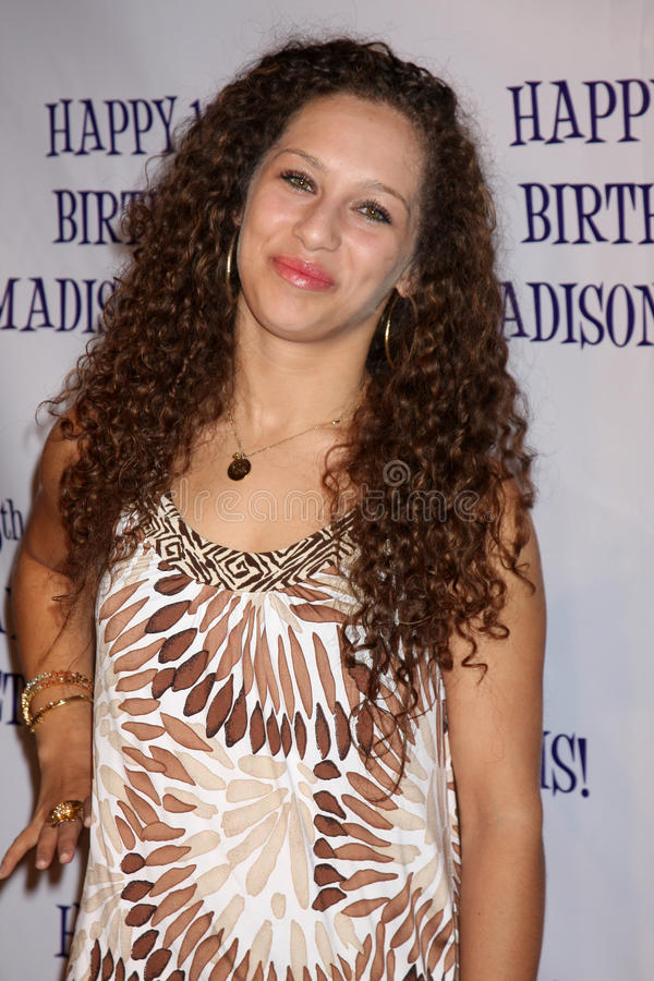 Helene Britany, Madison Pettis. LOS ANGELES - JUL 31: Helene Britany arriving at the13th Birthday Party for Madison Pettis at Eden on July 31, 2011 in Los royalty free stock images