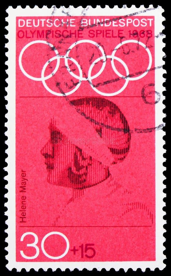 Helene Mayer (1910-1953), fencer, Summer Olympics 1968, Mexico City Series, Circa 1968 royaltyfri bild