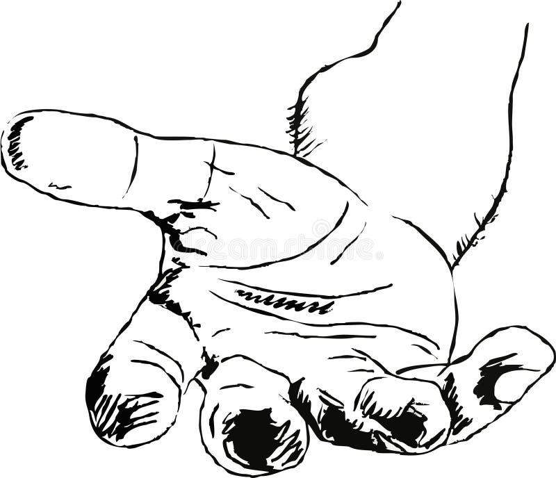 Helfende Hand lizenzfreie abbildung