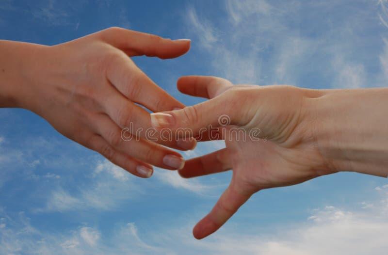 Helfende Hand stockfotografie