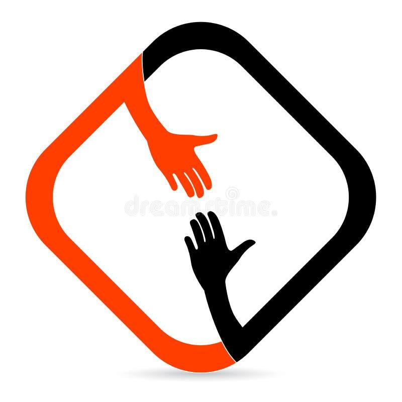 Helfende Hand stock abbildung