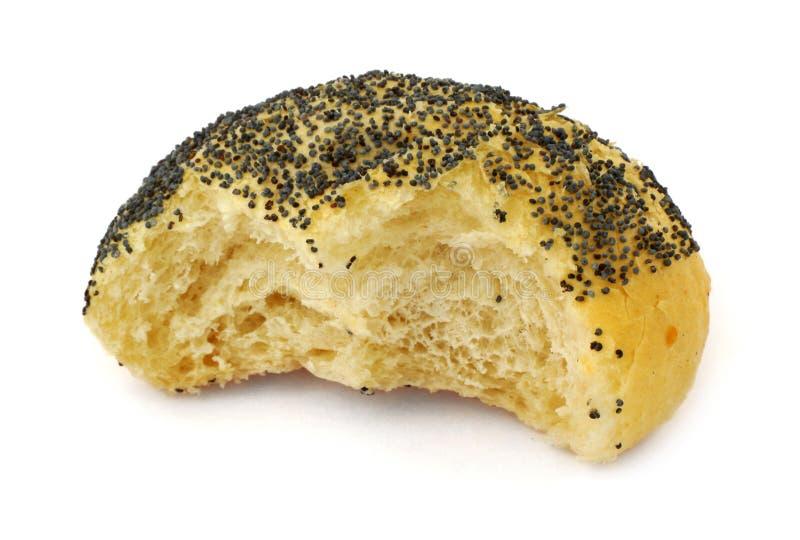 Helft-gegeten broodje stock afbeelding