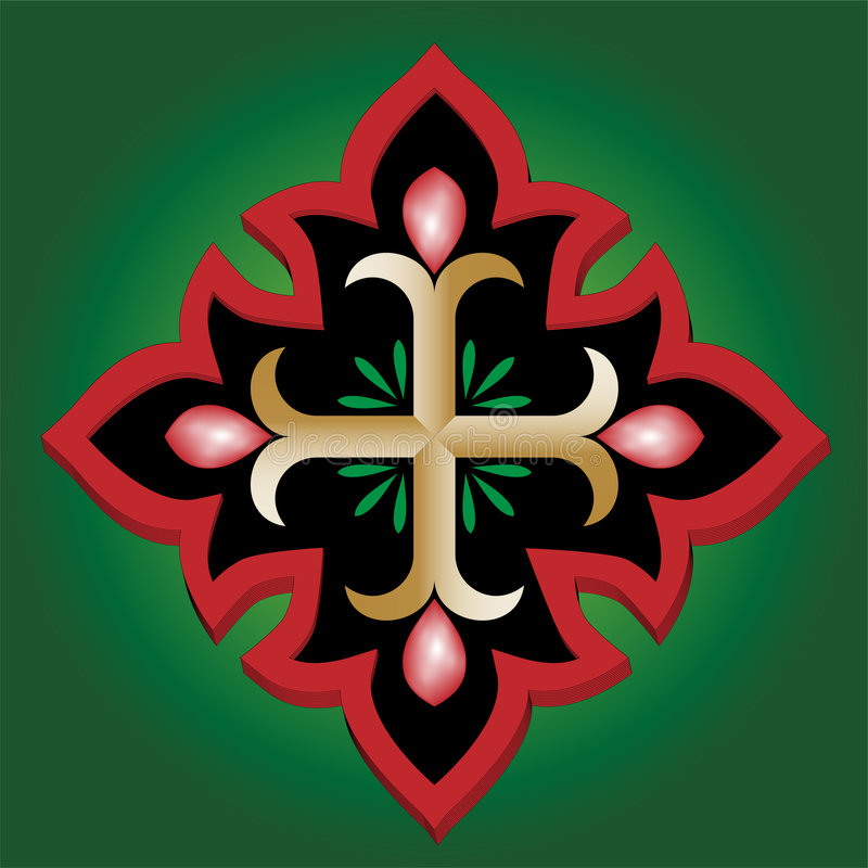 helgedom för kors för ankarblod kristen stock illustrationer