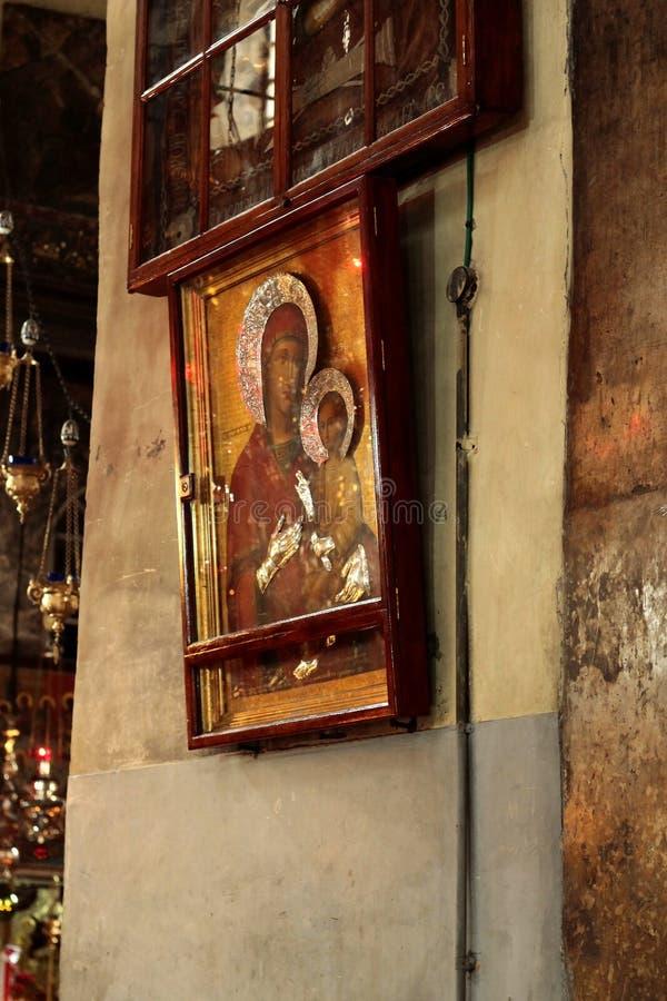 Helgedomkyrka av Kristi födelsen Betlehem Israel fotografering för bildbyråer