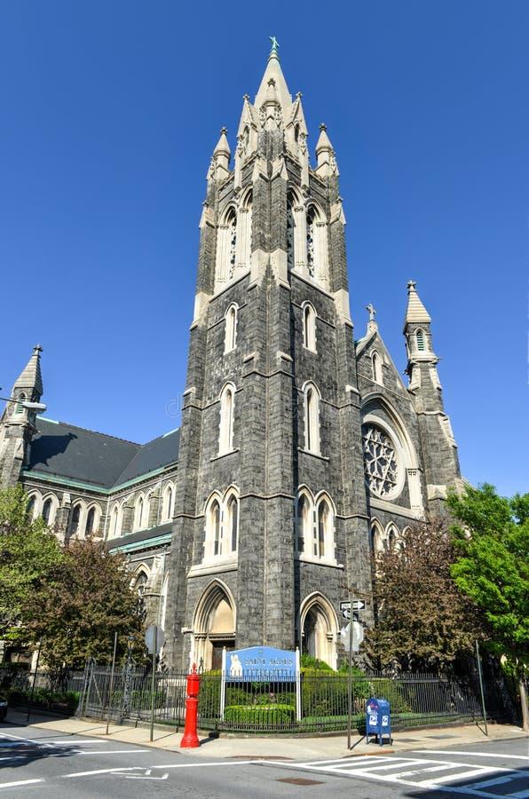 Helgon Agnes, Roman Catholic Church, Brooklyn, NY arkivbild