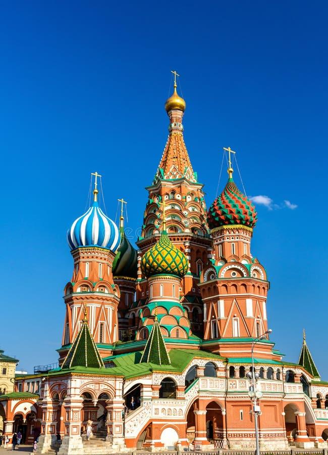 Helgon Basil Cathedral i röd fyrkant av Moskva royaltyfri fotografi