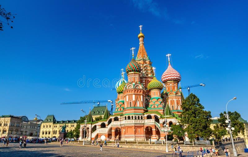 Helgon Basil Cathedral i röd fyrkant av Moskva royaltyfri bild