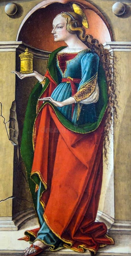Helgon Catherine av Alexandria (efter 1491-4) vid Carlo Crivelli (1430-1494) på National Gallery av London arkivfoto