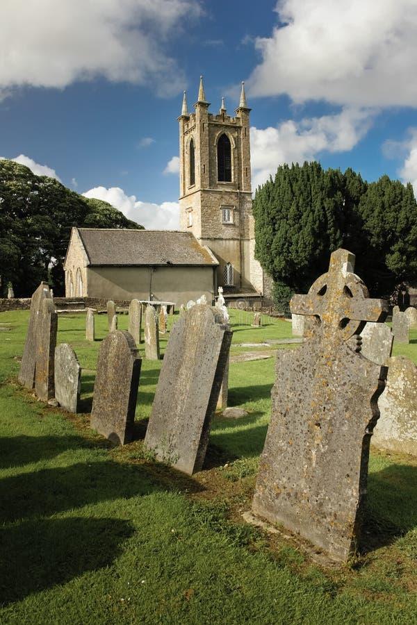 Helgon Edan Cathedral ferns Co Wexford ireland royaltyfria foton