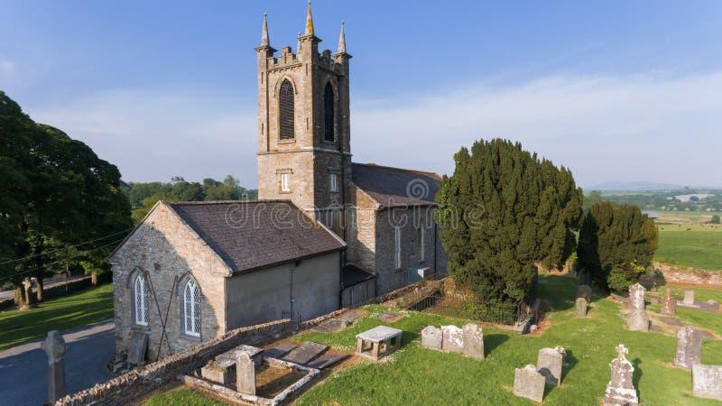 Helgon Edan Cathedral ferns Co Wexford ireland arkivbilder