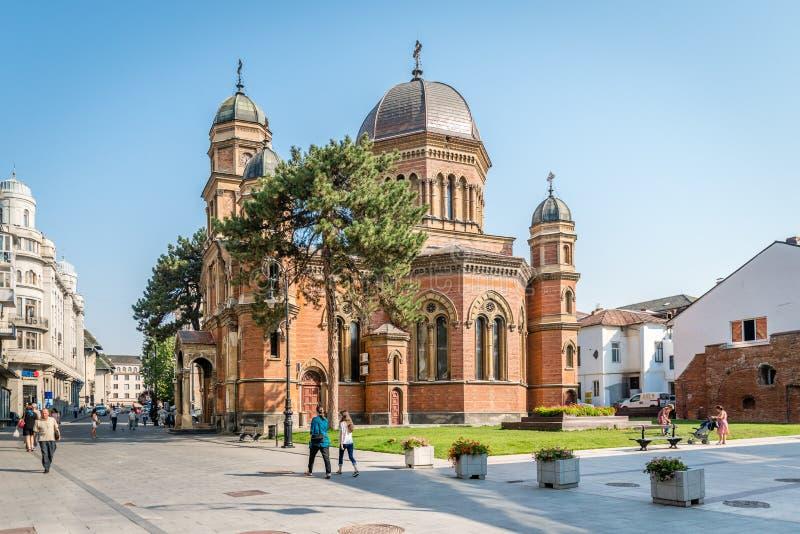 Helgon Elias Church i Craiova romania arkivfoton