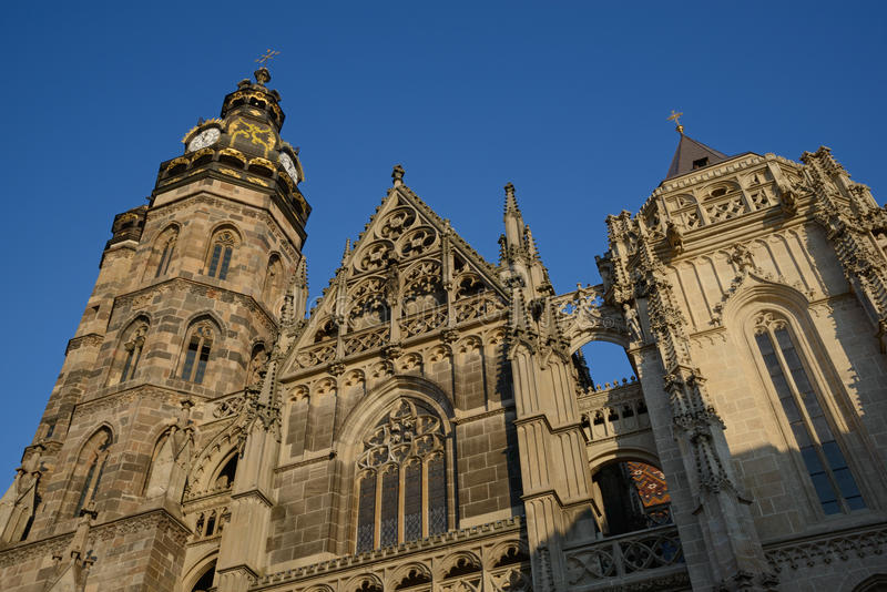 Helgon Elisabeth Cathedral i Kosice royaltyfri foto